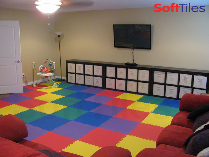 Rainbow Playmat Play Foam Mat Softtiles