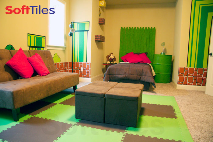 Softtiles Super Mario Themed Bedroom Children S Playroom
