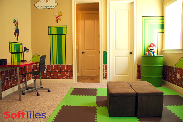 SoftTiles Super Mario themed bedroom