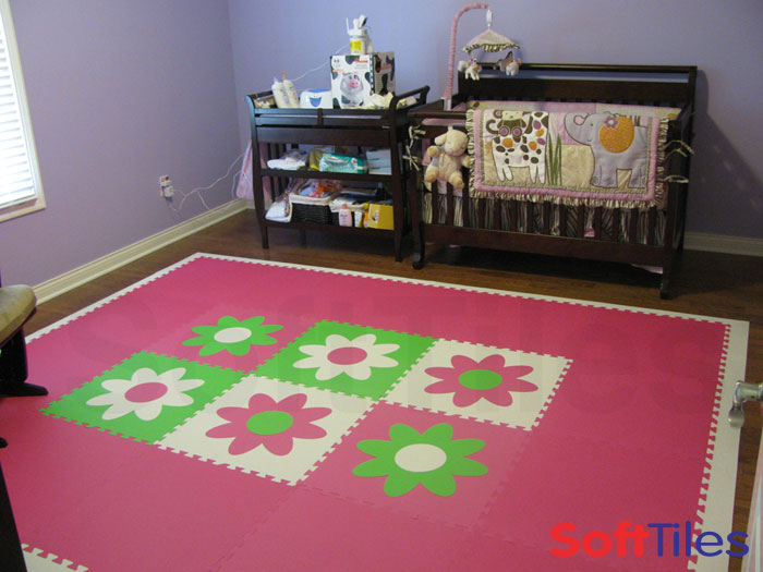 SoftTiles Flower Mats - Decorating girl's nursery