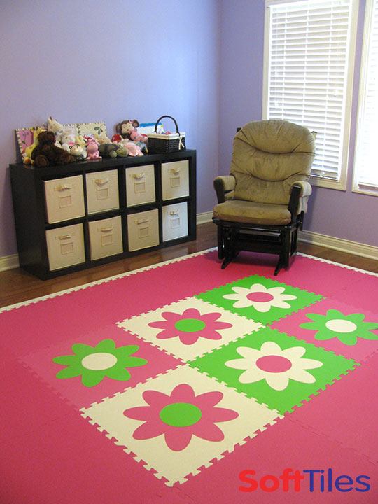 SoftTiles Flower Mats used for nursery