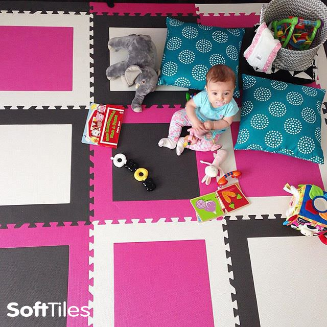 SoftTiles Squares Foam Mats Playroom Flooring