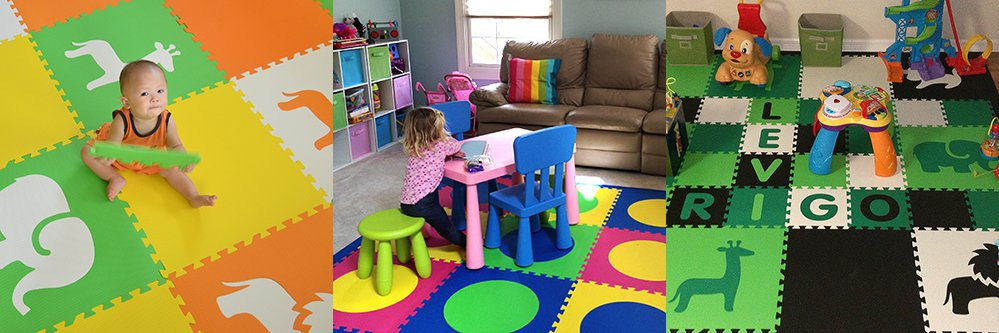 SoftTiles Foam Mats for Kids Playrooms