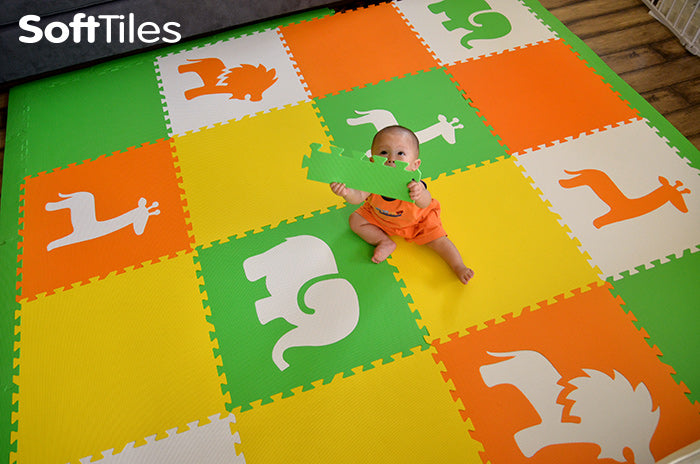SoftTiles Foam Mats for Babies Learning to Crawl