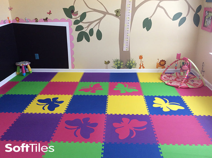 SoftTiles Butterfly Interlocking Foam Playmats