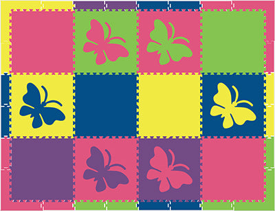 SoftTiles Butterfly Kids Foam Play Mat