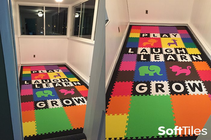 SoftTiles Custom Alphabet Foam Mats- Spell words in your playroom