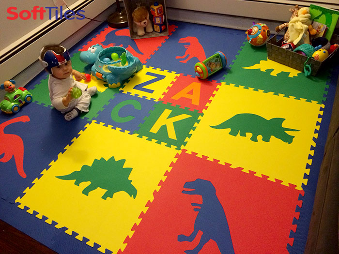 SoftTiles Dinosaur Foam Play Mats