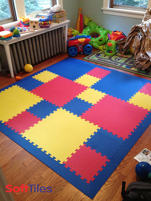 Foam Tiles For Playroom Kids Playing Mat Softtiles