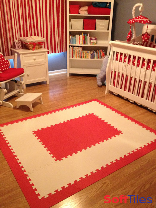 Cat In The Hat Themed Playroom Using Softtiles