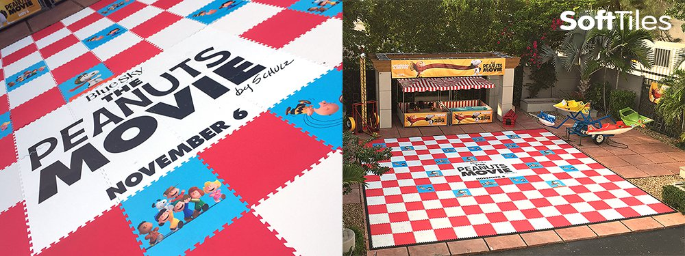 SoftTiles Peanuts Movie Custom Printed Mats
