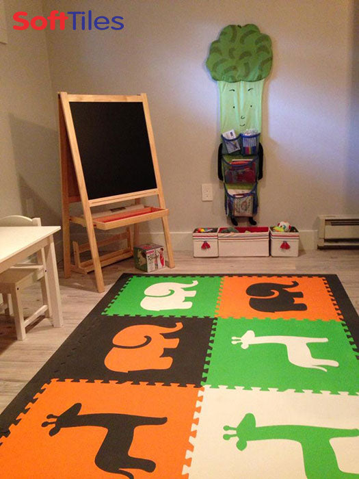 SoftTiles Safari Animals Foam Play Mats