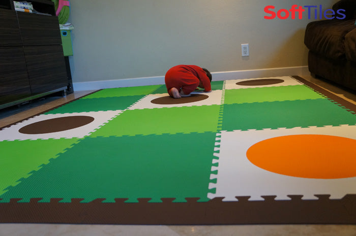 SoftTiles Circles Play Mat for Kids