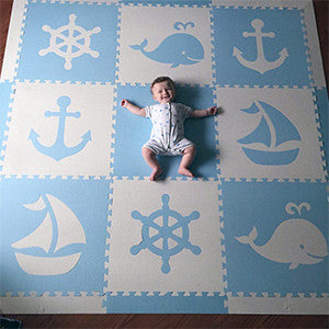 SoftTiles Nautical Foam Play Mats for kids