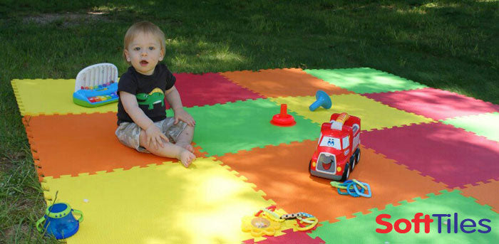 SoftTiles Foam Tiles for Kids- Outdoor Play Area
