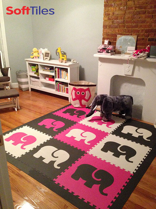Softtiles Safari Animals- Elephant Foam Mats for Kids