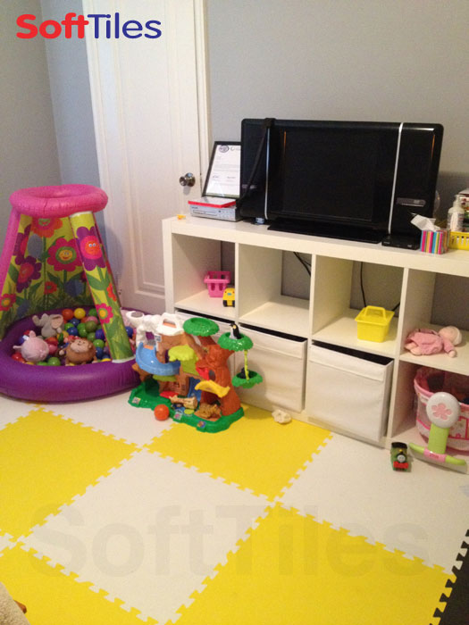 SoftTiles Playroom in Yellow and White