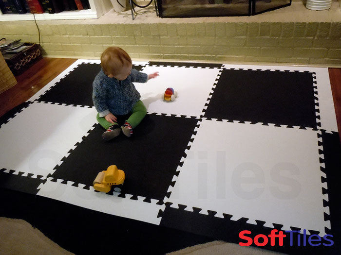 SoftTiles Foam Mats in Children's playroom