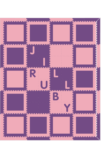 M285- Light Pink and Purple Squares w/ name 8x10