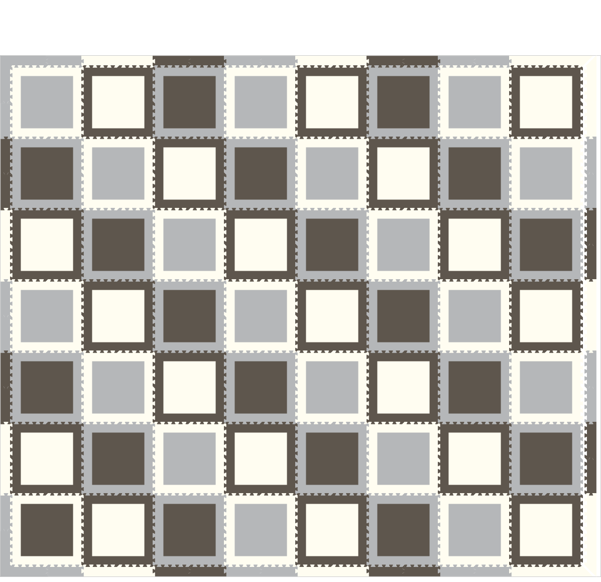 M745- Squares Gray, Light Gray, White 14x16
