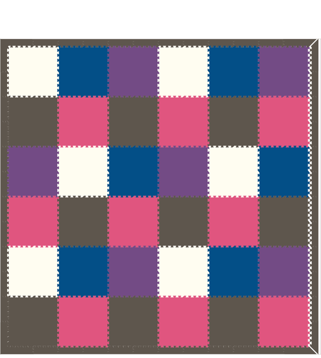 M80- Blue, Purple, Pink, Gray, and White 12x12