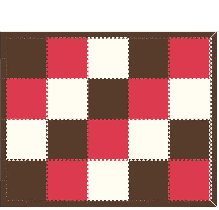 D109- Brown White Red 8x10