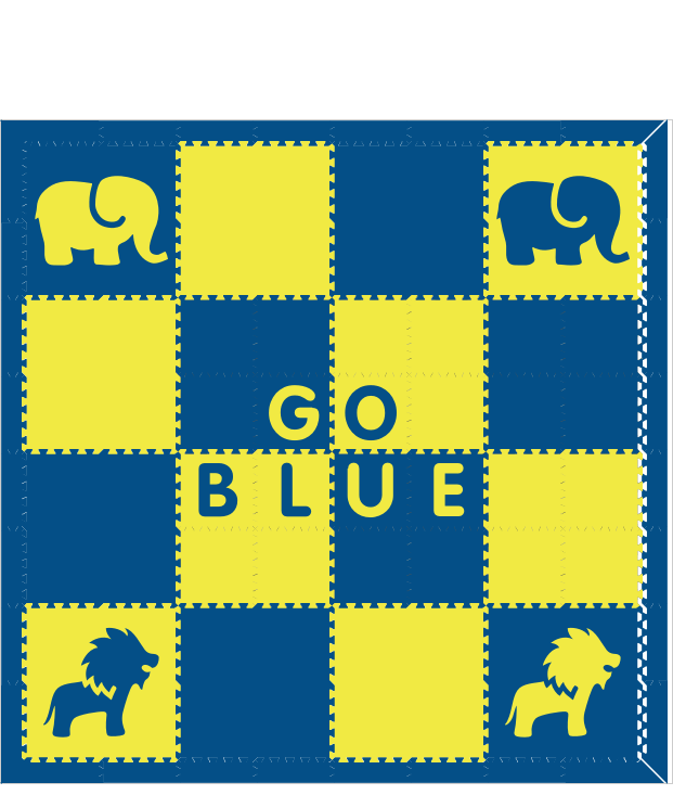 D176- Go Blue Michigan Mat