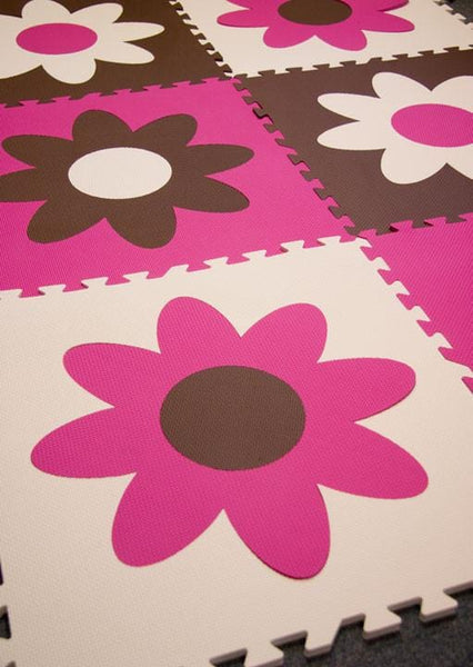 Flower Play Mat Foam Flooring For Kids Softtiles