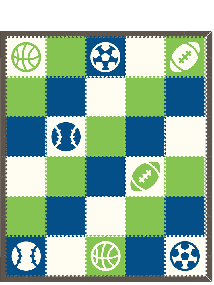 M344- Sports Lime, Blue, and White 10x12