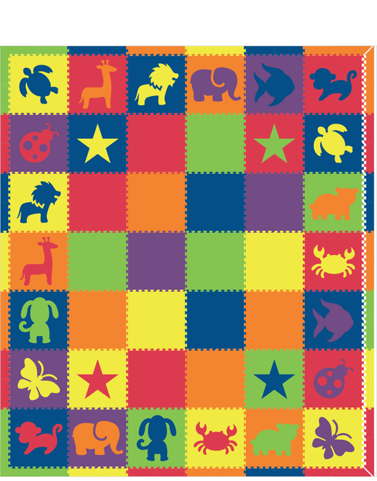 Colorful Animals 12x14 mod2