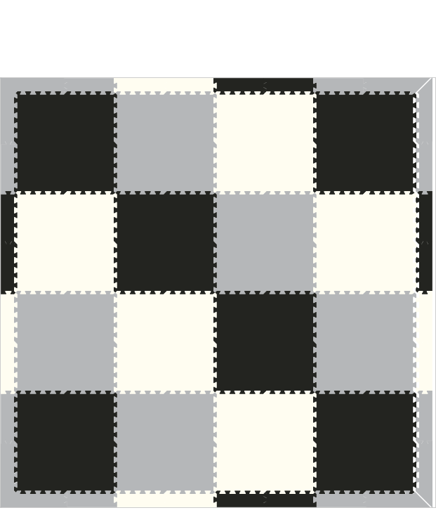 M660- Solids Black, White, Light Gray 8x8