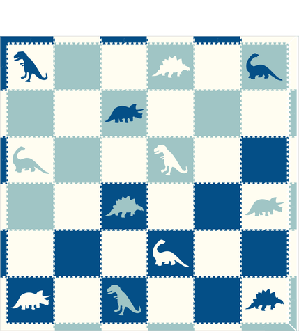 M265- Blue, White, Lt Blue Dinosaurs 12x12