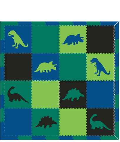 M65- Blue, Green, and Lime Dinosaurs 8x8