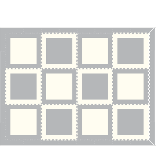 M34 - Squares Light Gray & White 6 x 8