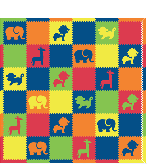 M452- Colorful Safari Animals 12x12