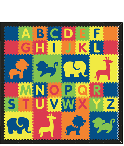 M236- Colorful Safari w/ Alphabet 8x8