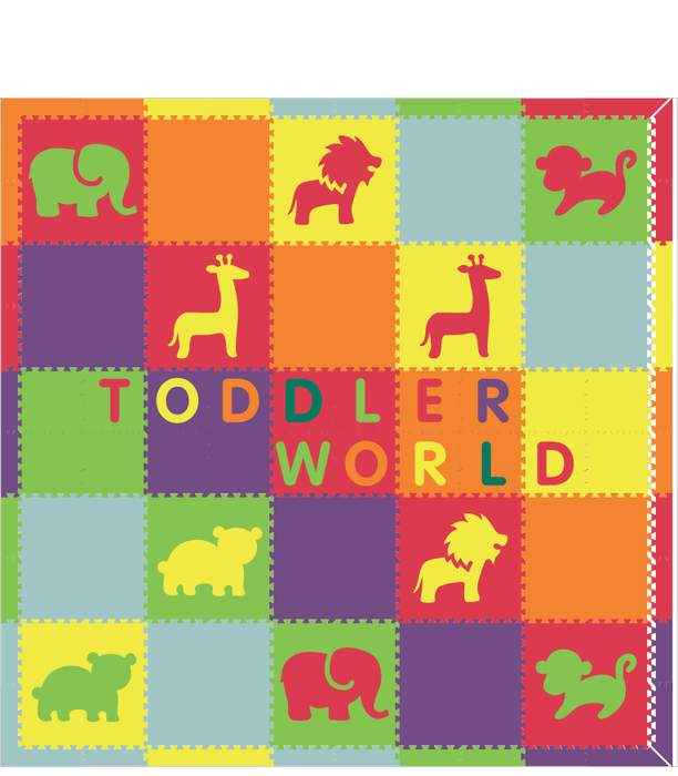 Toddler World V4 Rainbow Animals 10x10