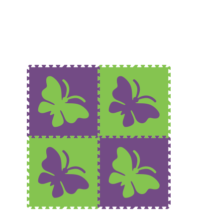 Lime Purple Butterfly 4x4