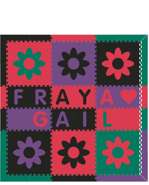 Fraya Gail IC Flowers 4C RGPB 6x6