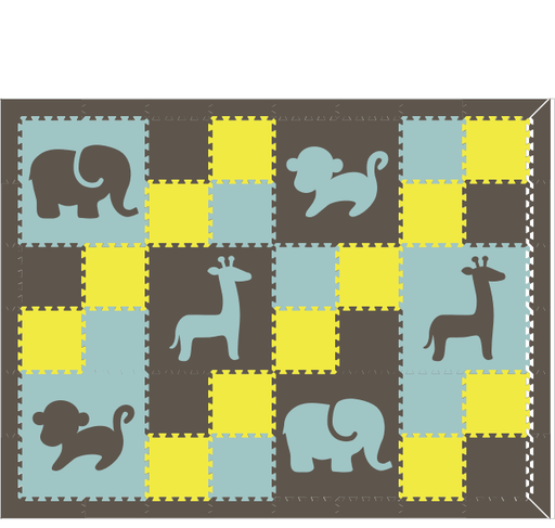 D193- Geometric Pattern Safari Animals 6x8