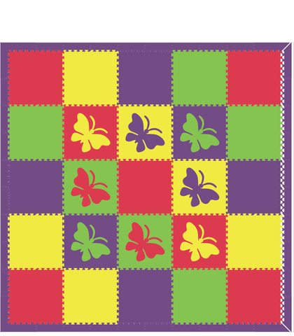 M69- Red, Purple, Yellow, and Lime Butterflies 10x10
