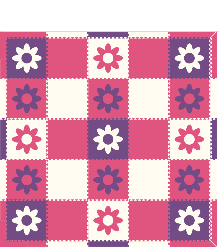 M113- Pink, Purple, and White Flowers 10x10