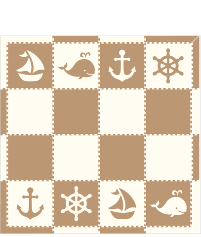M16- Nautical Tan White 8 x 8