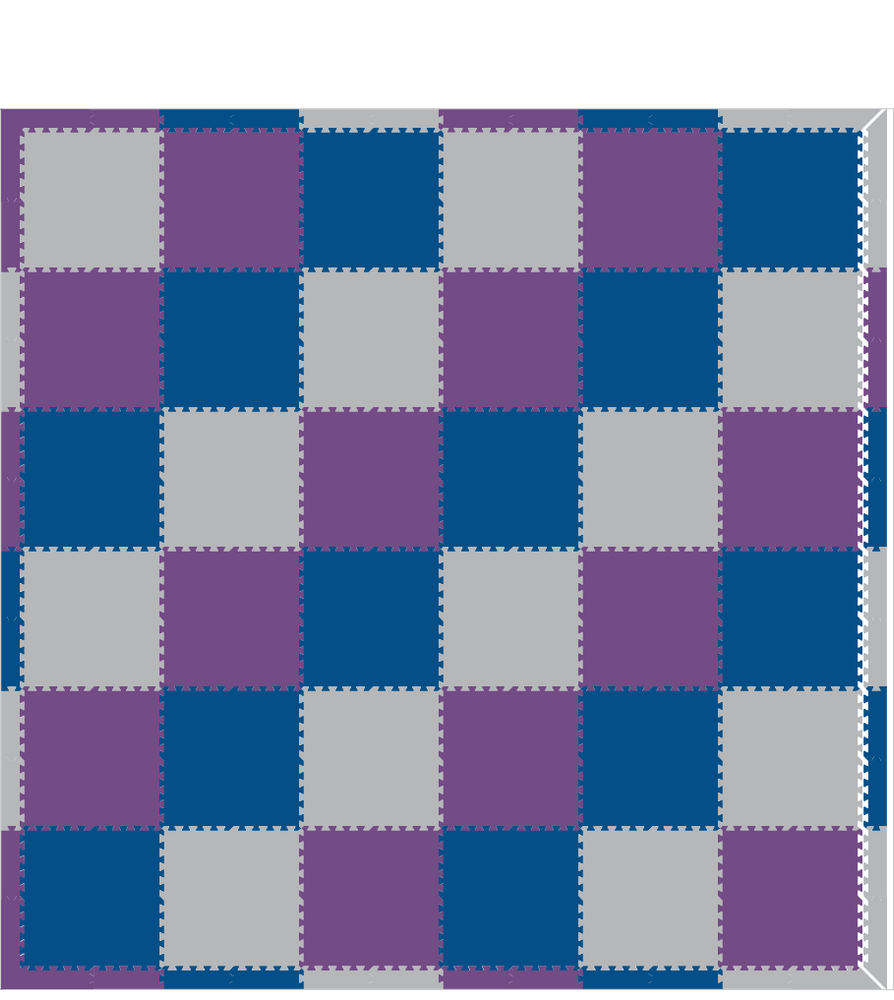 M742- Solids Blue, Purple, Light Gray 12x12