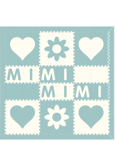 M57- Hearts, Flowers with Name 6x6