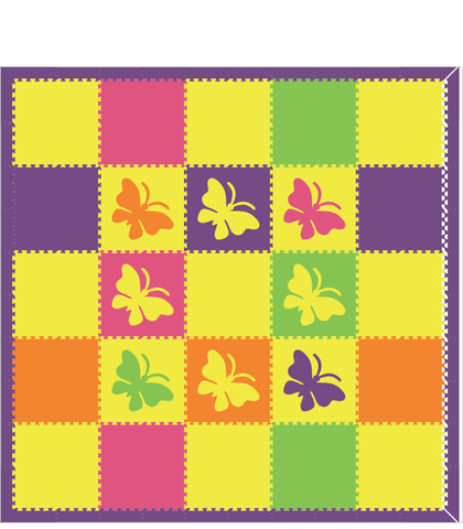 M88- Colorful Butterflies 10x10
