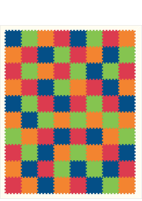 M556- Solids 1x1 Blue, Lime, Red, Orange 8x10