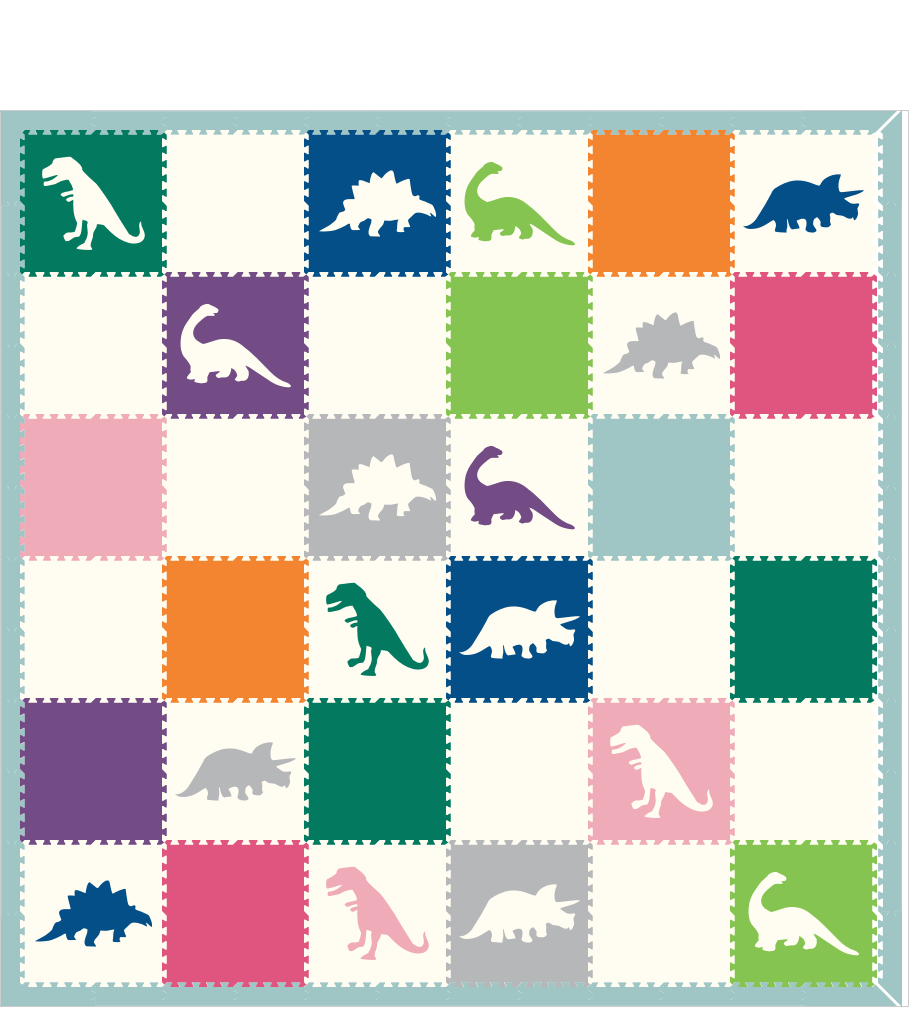 M242- Colorful Dinosaurs 12x12
