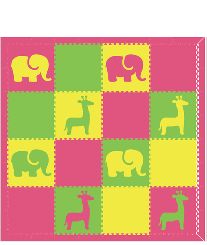 M126- Yellow, Pink, and Lime Safari 8x8
