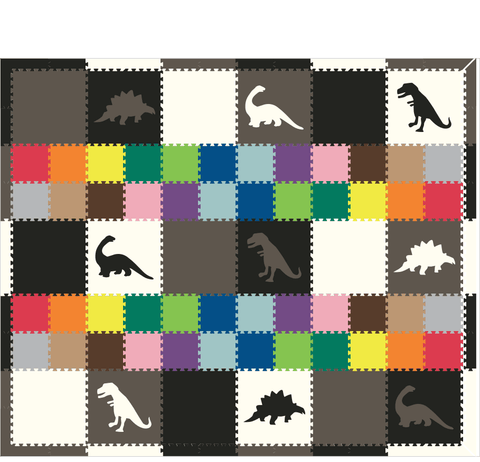 M220- Dinosaurs BGW w/ Colorful 1x1's 10x12